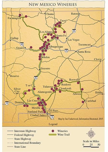 New Mexico Winery Map © New Mexico Wine