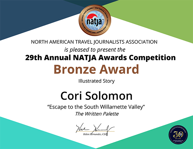 Travel Writing - NATJA Bronze Award - Cori Solomon